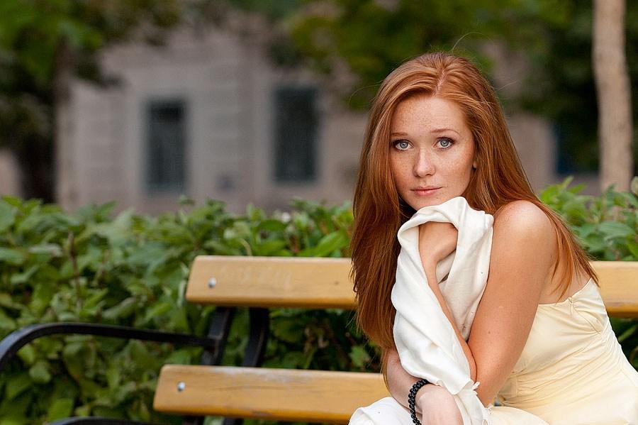 Русская рыжая девушка 16 фотография