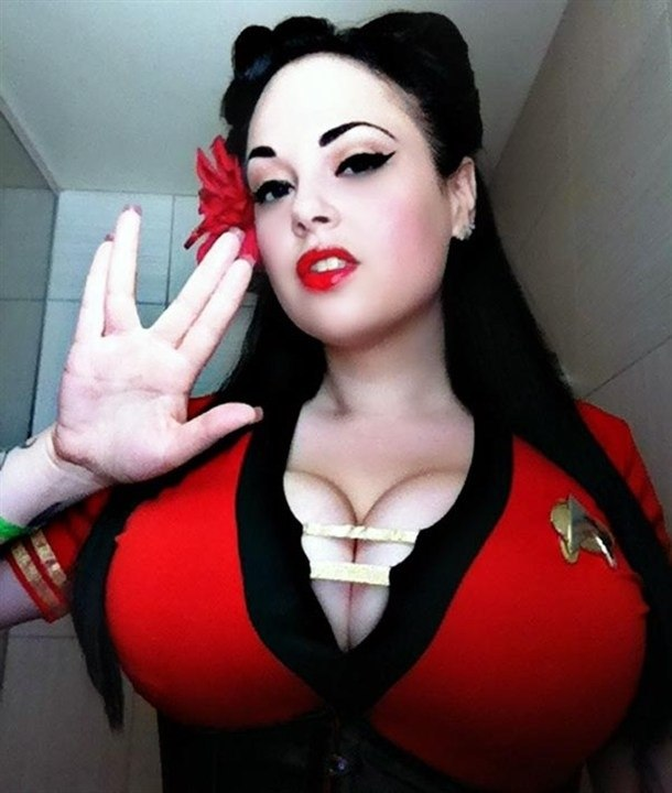 Accept. Star trek cosplay sexy time